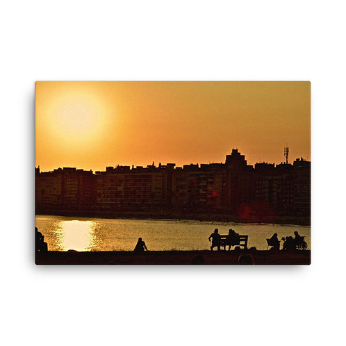 Mood of Montevideo Canvas Print
