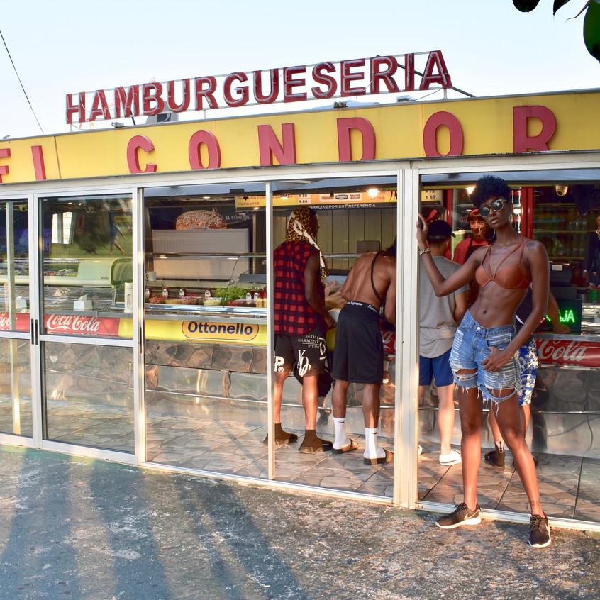 Posted up at the hamburgeseria