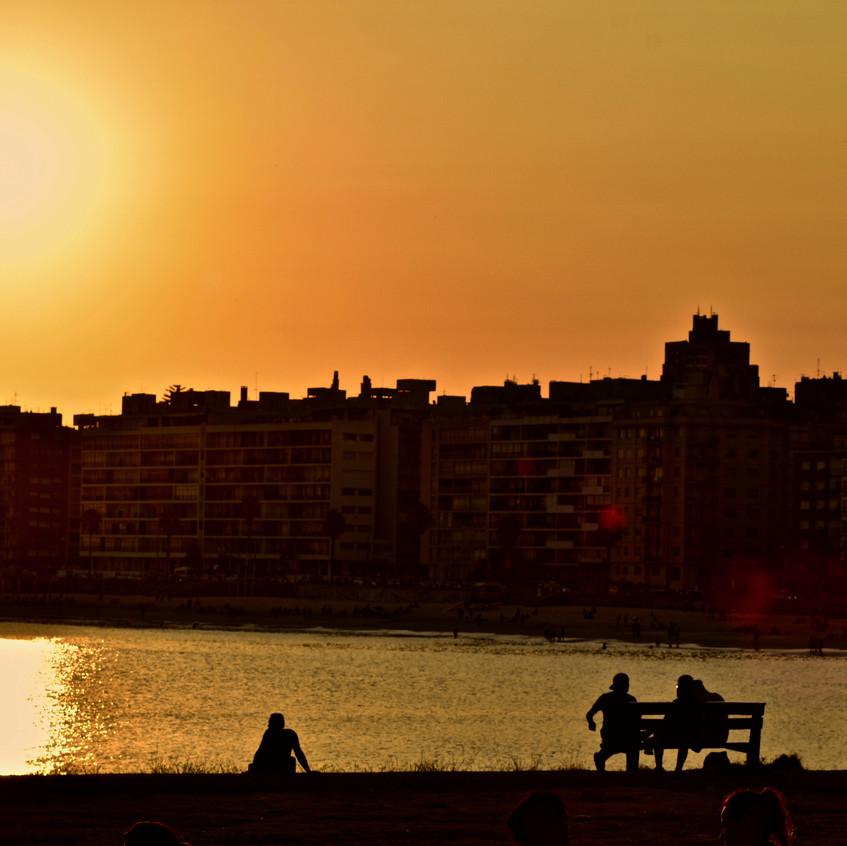 Sunset over Playa de los Pocitos