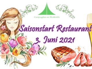Saisonstart Restaurant - Ankündigung