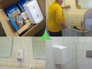 Neuerung im Sanitärgebäude