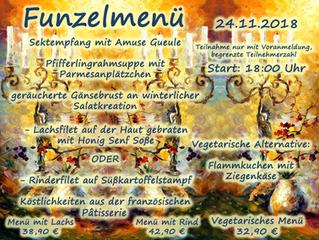 Funzel Menü 2018