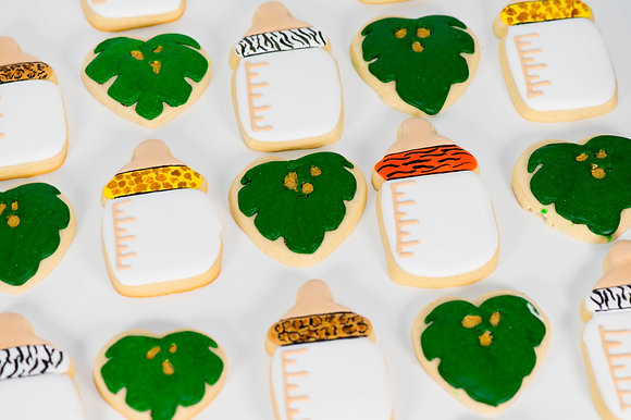 Jungle Themed Shower Cookies - 1 dozen