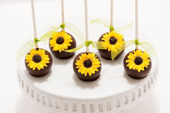 Sunflower Cake Pops - 1dozen