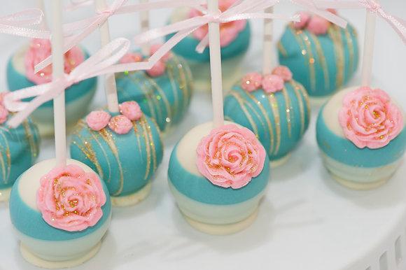 Vintage Rose Cake Pops - 1 dozen