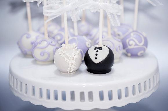 Bride and Groom Cake pops - 1 dozen