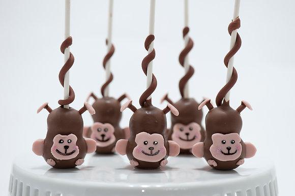 Monkeys Custom Cake Pops - 1 dozen
