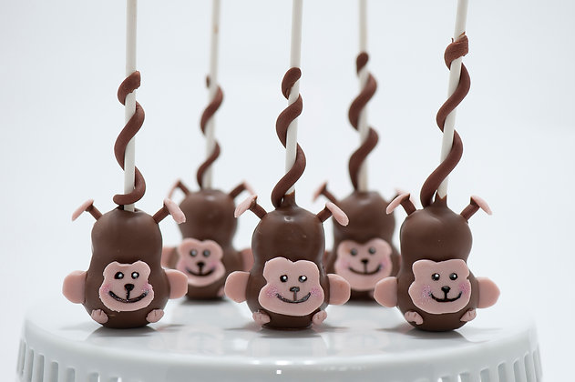 Monkeys Custom Cake Pops - 1 dozen