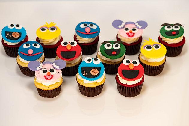 Sesame Street Cupcakes - 1 dozen