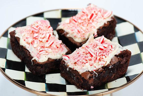 Peppermint Bark Brownies - 1 Dozen