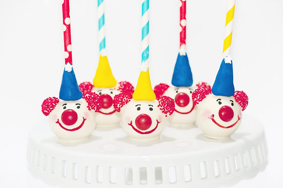 Clown Cake Pops - 1 dozen