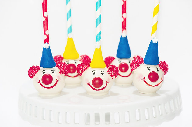 Clown Cake Pops - 1 dozen