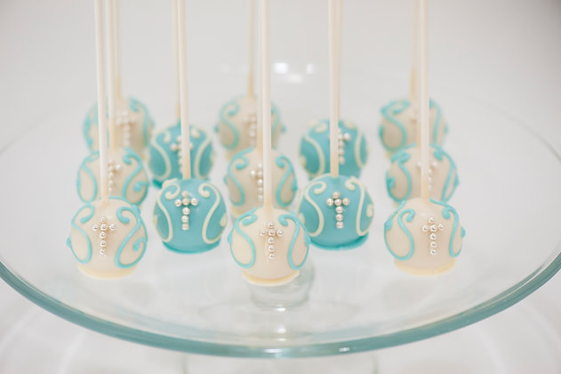 Baptism/First Communion Cake Pops - 1 dozen