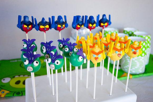 Angry Birds Transformers Cake Pops - 1 dozen