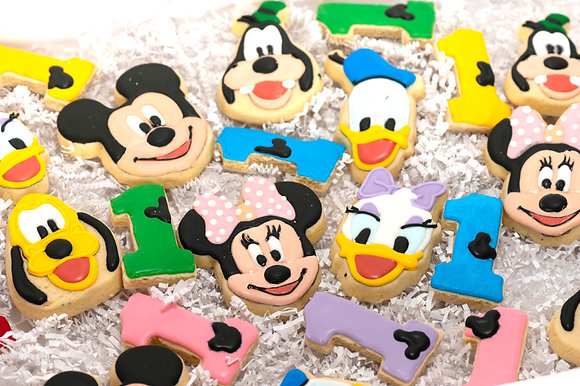 Mickey Mouse Clubhouse Cookies - 1 dozen