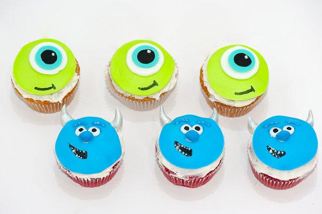 Monster's Inc Cupcakes - 1 dozen