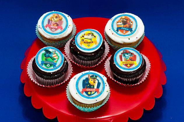Paw Patrol Cupcakes - 1 dozen