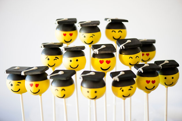 Graduation Emoji Cake Pops - 1 dozen