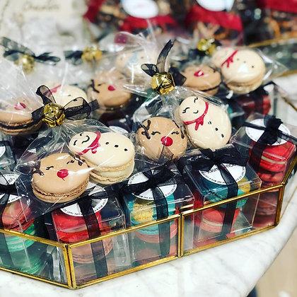 Reindeer and Snowman Macaron Set