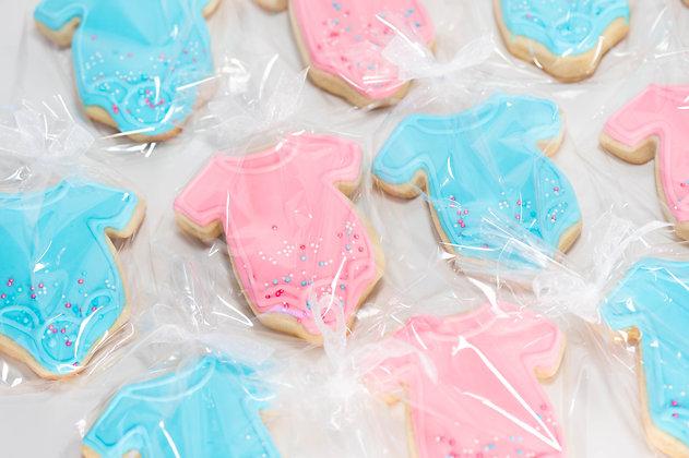 Baby Onesie Sugar Cookies - 1 dozen