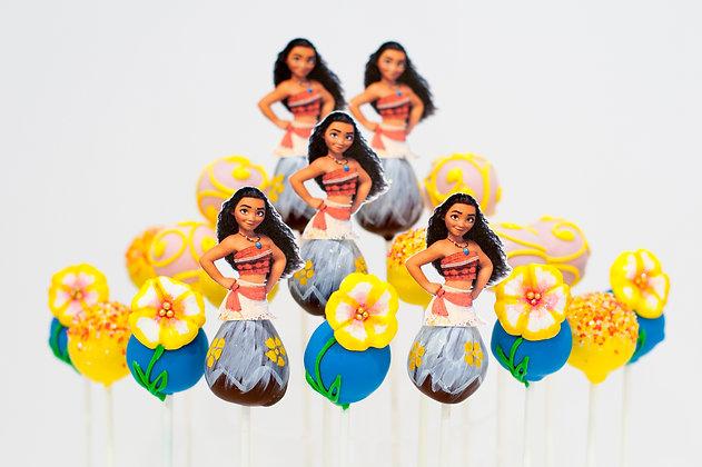 Moana Cake Pops - 1 dozen
