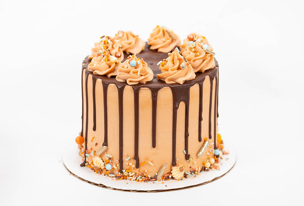 Pumpkin Drip Cake - 6 inch round (feeds 8-10)
