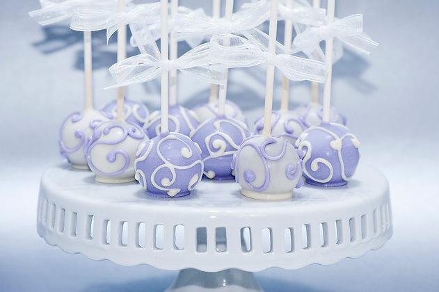 Whimsical Swirl Cake Pops - 1dozen