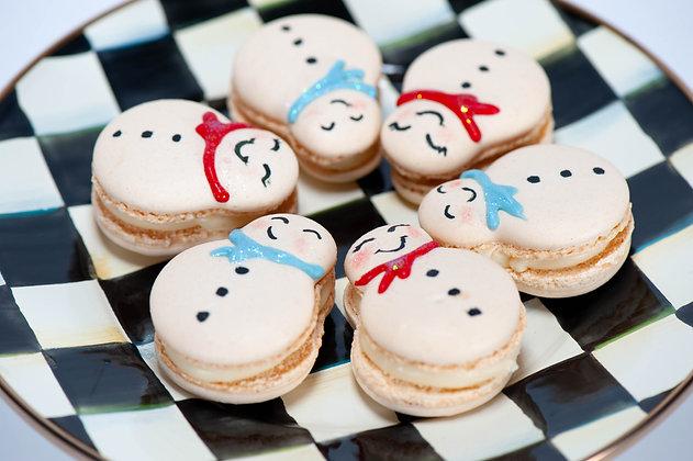 Snowmen Macarons - 1 Dozen