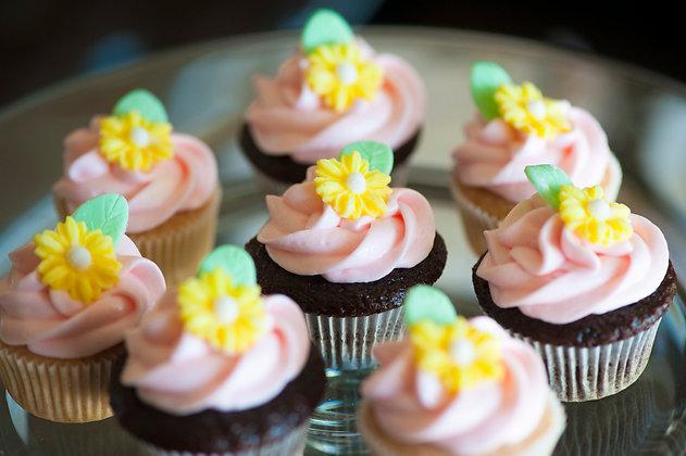 Mini Floral Cupcakes - 2 dozen