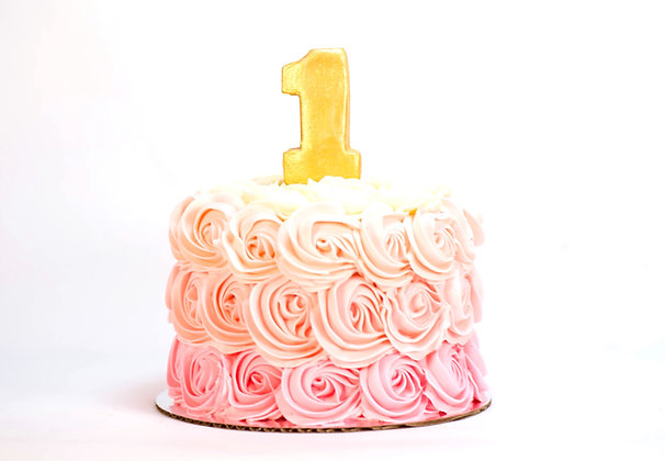 Ombre Rosette Cake - 6 inch round (feeds 8-10)