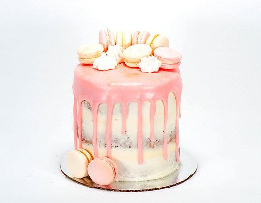 Macaron Drip Cake - 6 inch round (feeds 8-10)