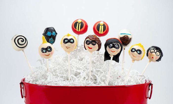 Incredibles Cake Pops - 1 dozen