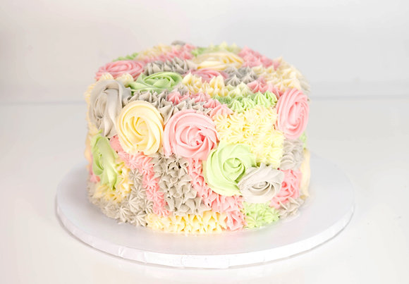 Floral Bouquet Cake - 6 inch (feeds 8-10)
