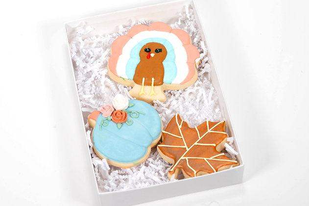 Thanksgiving Sugar Cookies - 6 piece gift box