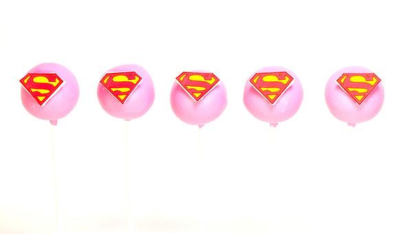 Super Girl Cake Pops - 1 Dozen
