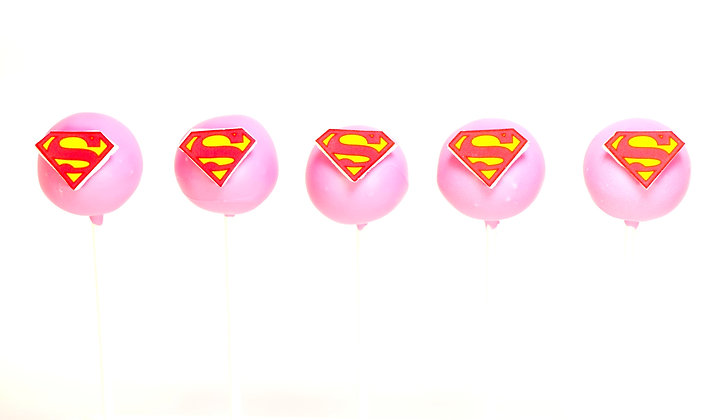Super Girl Cake Pops - 1 Dozen