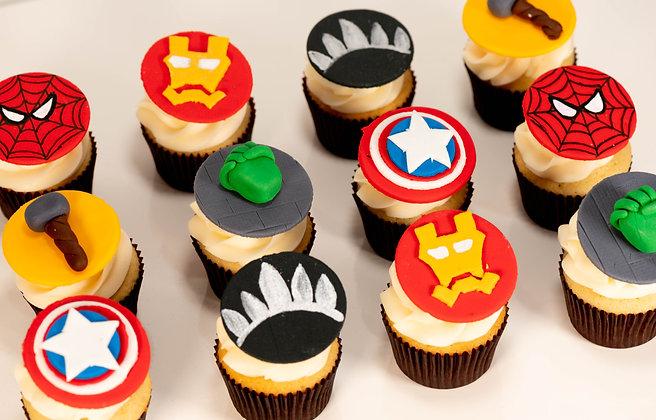 Avengers Themed Cupcakes - 1 Dozen
