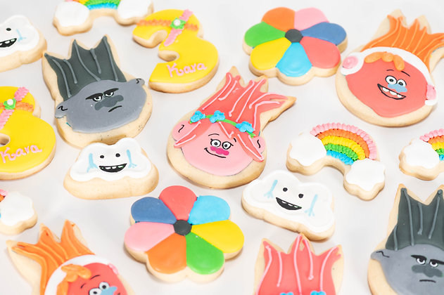Trolls Themed Sugar Cookies - 1 dozen