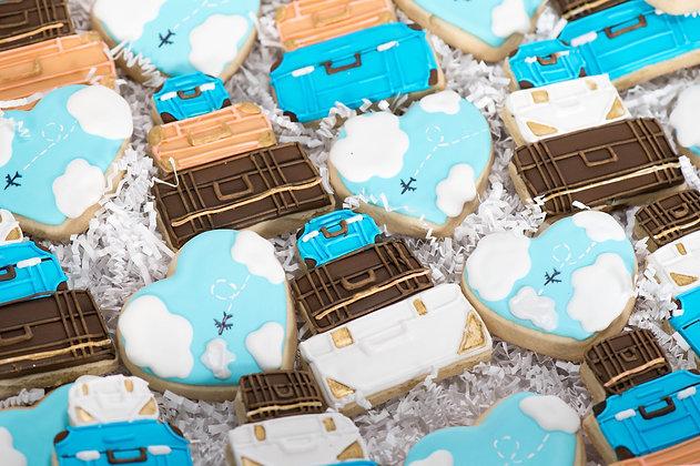 Travel Themed Sugar Cookies - 1 dozen