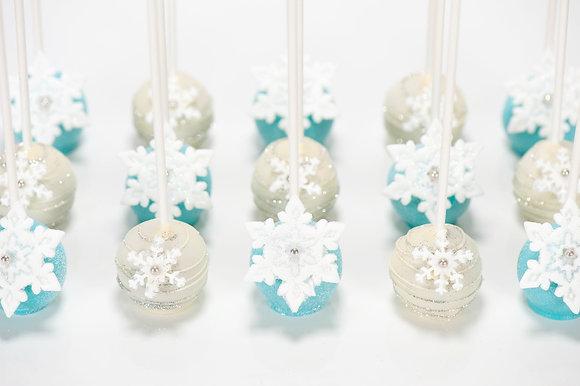 Snowflake Cake Pops - 1 Dozen