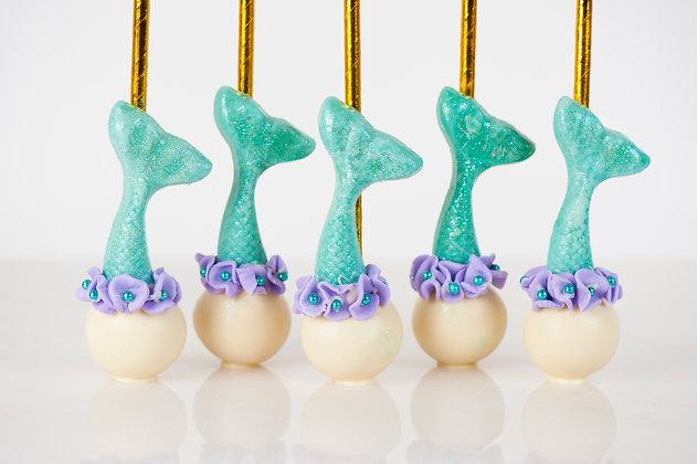 Mermaid Cake Pops -1 Dozen