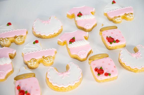 Baby Girl Shower Cookies - 1 dozen
