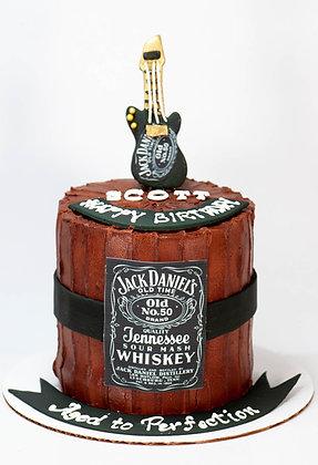 Jack Daniels Inspired Cake - 6 inch (feeds 8-10)