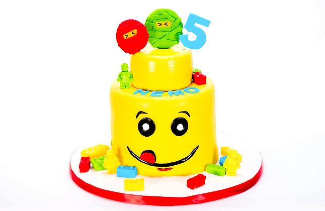 Lego Themed Cake - 6 inch round (feeds 8-10)