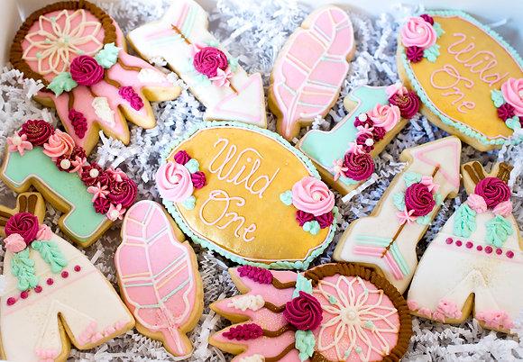 Boho Chic Sugar Cookies - 1 dozen