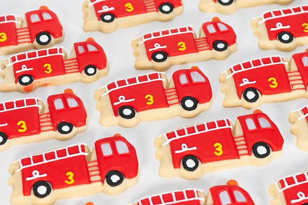 Fire Truck Sugar Cookies - 1 dozen