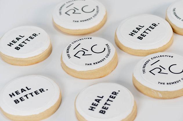 Custom Logo Sugar Cookies (round) - 1 dozen