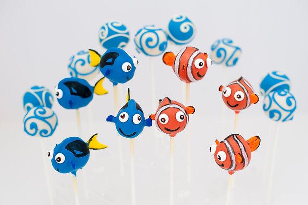 Dory and Nemo Cake Pops -1 dozen