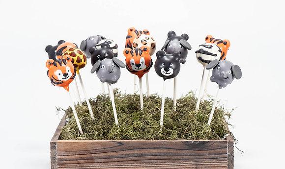 Jungle Animal Cake Pops - 1 dozen