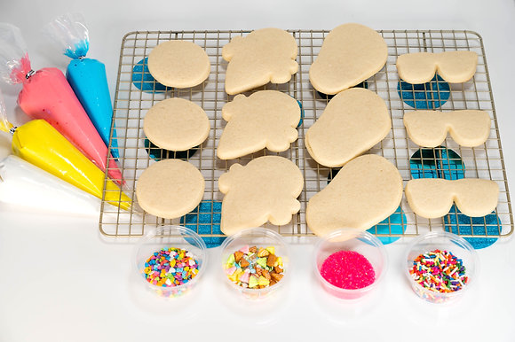 Summertime Fun (Beach balls, flip flops, ice cream, sunglasses) Cookie Kit